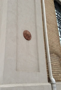 Heritage Plaque on the side of Carnegie Gallery